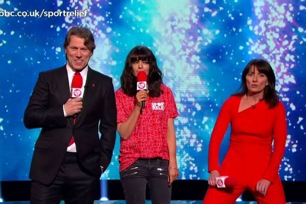 Nobody Could Cope With Davina's Clingy Jumpsuit On 'Sport Relief' (Including