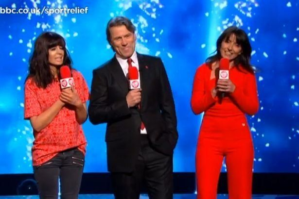 Davina McCall Wore A Clingy Red Jumpsuit To Present 'Sport Relief' And Twitter Couldn't Handle