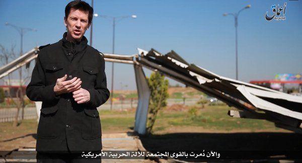 John Cantlie as he appeared in an IS propaganda video in