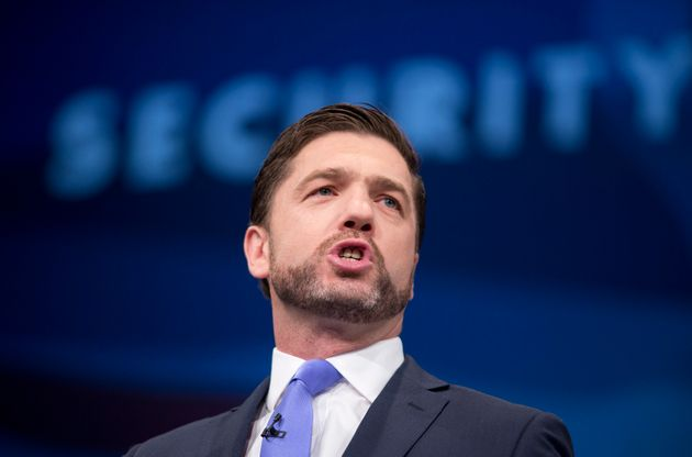 Stephen Crabb delivers speech at the Conservative Party annual conference last