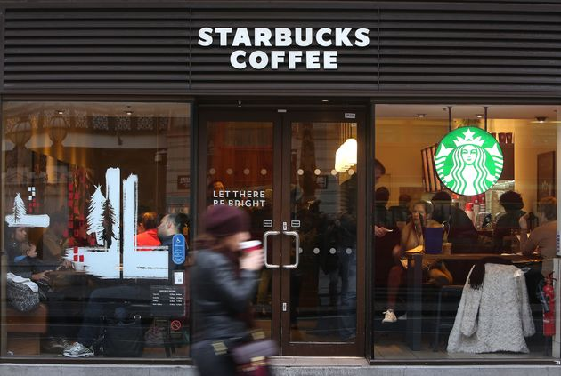 File photo of aLondon branch of Starbucks at the