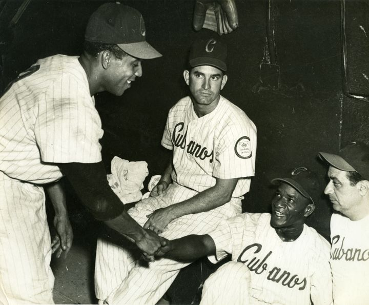 Members of the Havana Sugar Kings, a Cuban-based minor league team, during a game in 1957.