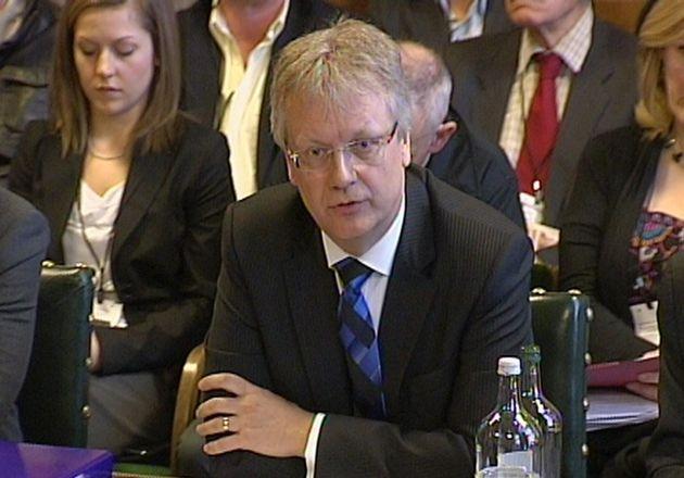 Trevor Bond, president of Cadbury, giving evidence to Parliament in