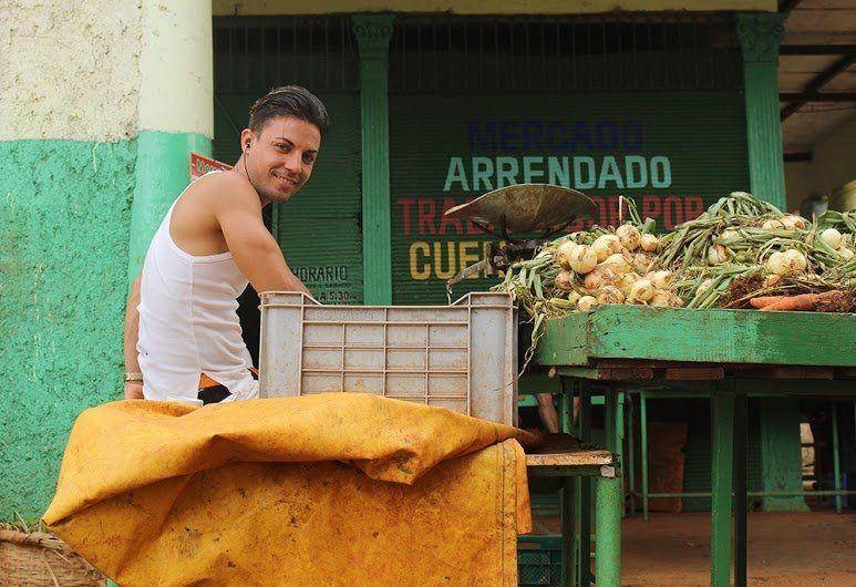 A local vegetable and fruit vendor in Havana's Vedado neighborhood.
