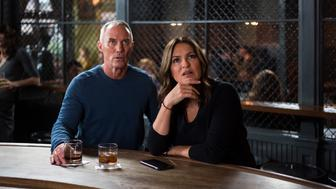 LAW & ORDER: SPECIAL VICTIMS UNIT -- 'Unholiest Alliance' Episode 1718 -- Pictured: (l-r) Robert John Burke as Capt. Ed Tucker, Mariska Hargitay as Olivia Benson -- (Photo by: Michael Parmelee/NBC/NBCU Photo Bank via Getty Images)