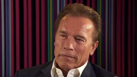 Arnie had earlier appeared unruffled as he was pressed on his personal life, giving an answer politicians...