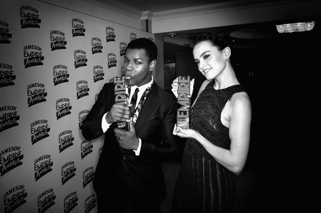 'Star Wars' stars John Boyega and Daisy Ridley had a moment to share as they won Best Male And Female...
