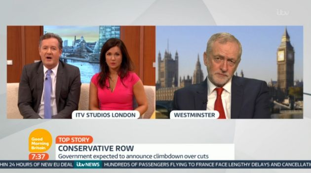 Jeremy Corbyn grilled by Piers Morgan and Susanna Reid on Good Morning