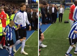 Boy Told He'd Never Walk Leads Sheffield Wednesday Footballers Onto Pitch