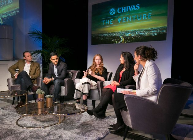 Lily Cole takes part in a panel discussion on the global impact of social enterprise at the Natural History...