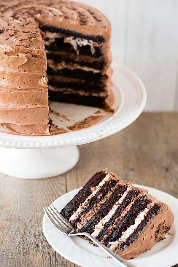 Six Layer Chocolate Mocha Cake