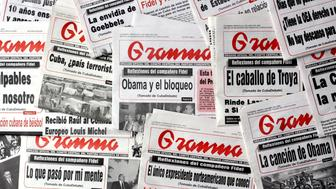 HAVANA  - JUNE 26: Articles written by Cuba�s Revolution leader Fidel Castro, known as Reflexiones (reflections),  appear on the covers of a selection of Granma, Cuba�s Communist Party newspaper, on June 26, 2009, in Havana, Cuba. Castro was last seen in public on July 26, 2006, when he fell ill. In 2008 he retired from all posts except that of First Secretary of the Communist Party of Cuba. In his frequently published reflexiones, Castro writes about different subjects, such as U.S. President Barack Obama, the U.S. imposed embargo on Cuba, the relation between the OAS and Cuba and others. (Photo by Sven Creutzmann/Mambo photo/Getty Images)
