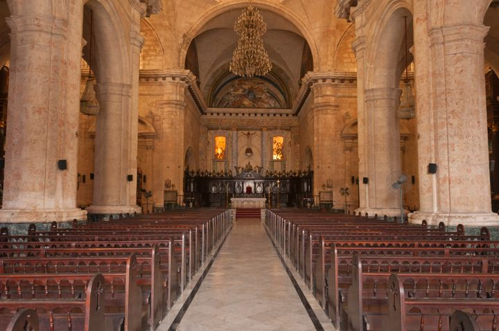 The inside of the cathedral.
