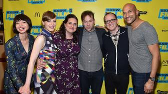 AUSTIN, TX - MARCH 13: (L-R) Kate Micucci, Gillian Jacobs, Tami Sagher, Mike Birbiglia, Chris Gethard and Keegan-Michael Key attend the screening of 'Don't Think Twice' during the 2016 SXSW Music, Film + Interactive Festival at Paramount Theatre on March 13, 2016 in Austin, Texas.  (Photo by Mike Windle/Getty Images for SXSW)