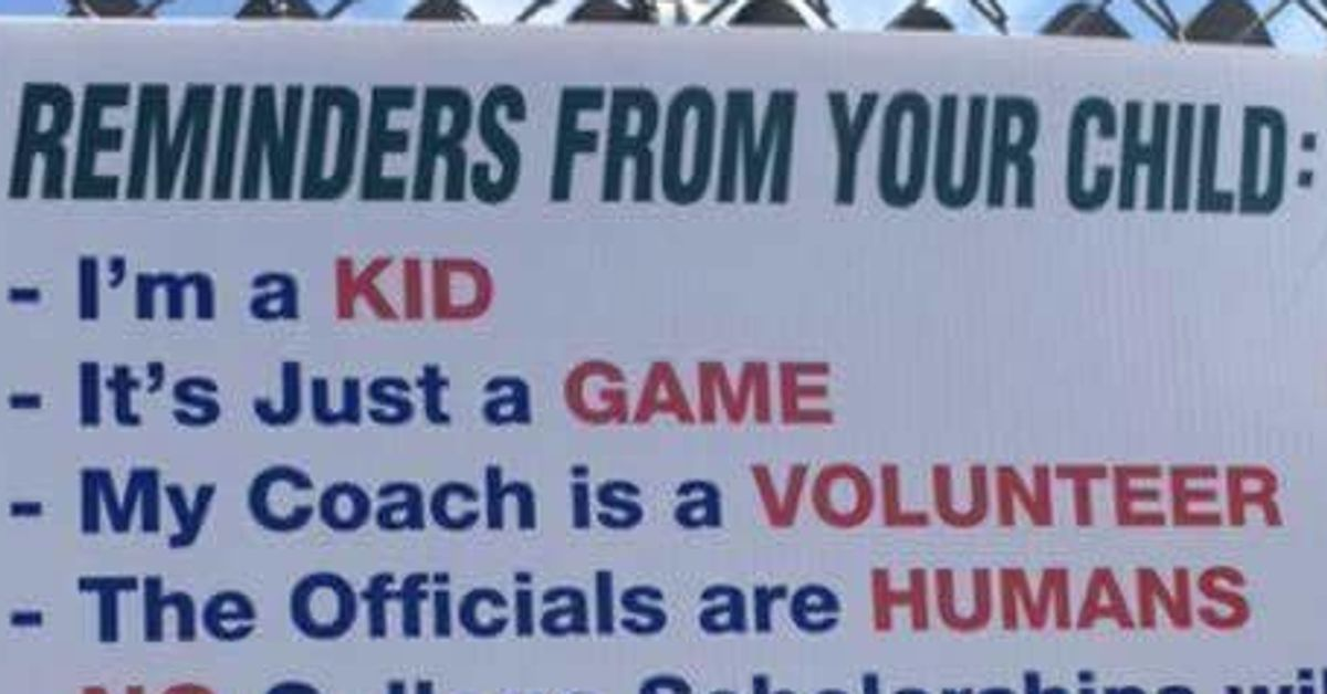 Little League Sign For Parents Gets Straight To The Point