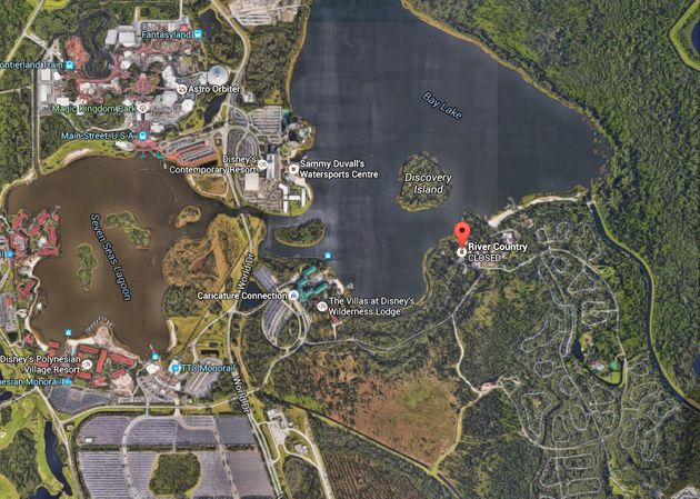 Eerie Abandoned Park At Walt Disney World Pictured With Spooky - Walt disney world river country map