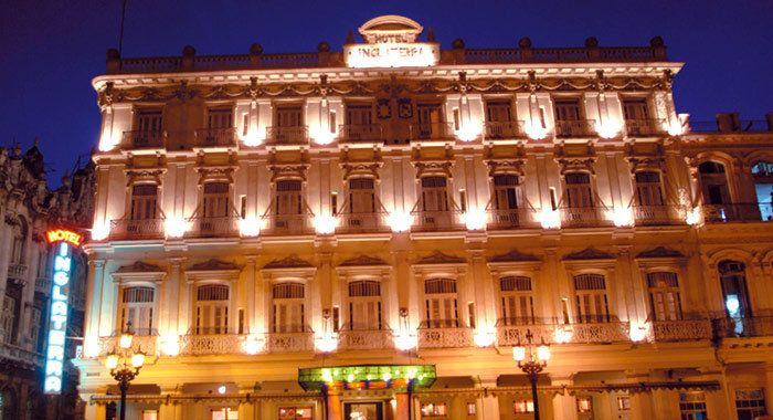 The Gran Caribe Hotel Inglaterra, located right on Old Havana's Parque Central, belongs to Starwood's Luxury Coll