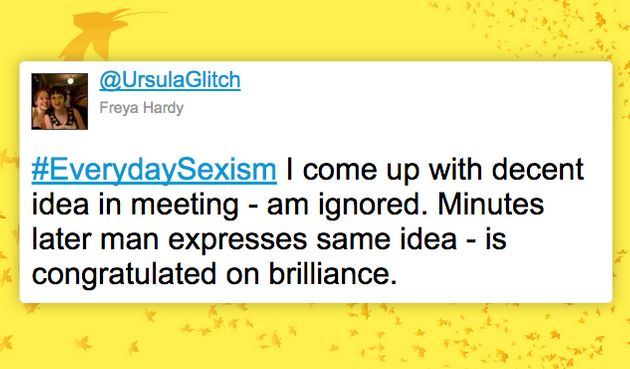 A powerful tweet from the #EverydaySexism