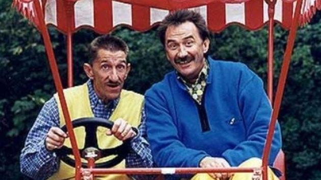 Slapstick: Barry (left) and Paul Elliott as TV's Chuckle
