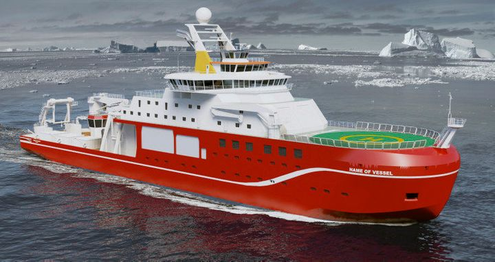 A visualization of the future research ship, which many hoped would be named Boaty McBoatface.