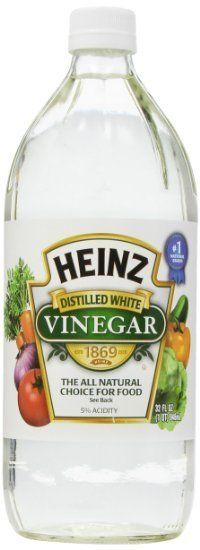 "<a href=""http://www.amazon.com/Heinz-White-Vinegar-32-oz/dp/B000RAB7F0"" target=""_blank"">Heniz White Vinegar, $6.29</a>"