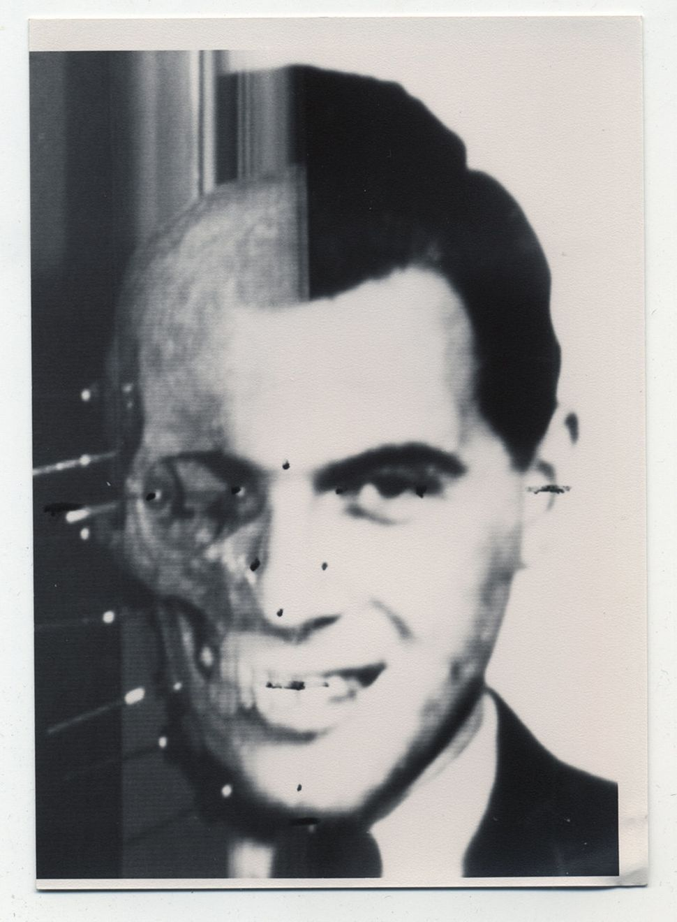 Portrait of Josef Mengele taken from the SS archives and from Wolfgang Gerhard (Mengele's pseudonym), found in the Bossert ho