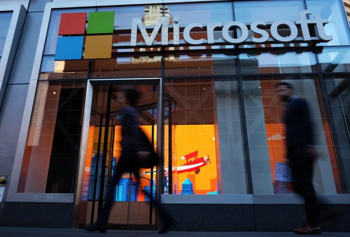 A Microsoft office in New York. The company is expanding its autism hiring program in the U.S. and the U.K.
