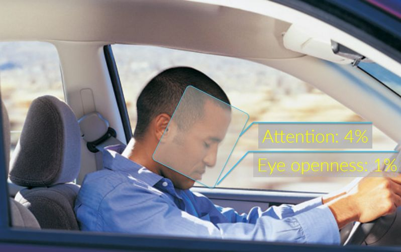 Software from Eyeris can measure a driver's head position and facial expressions.
