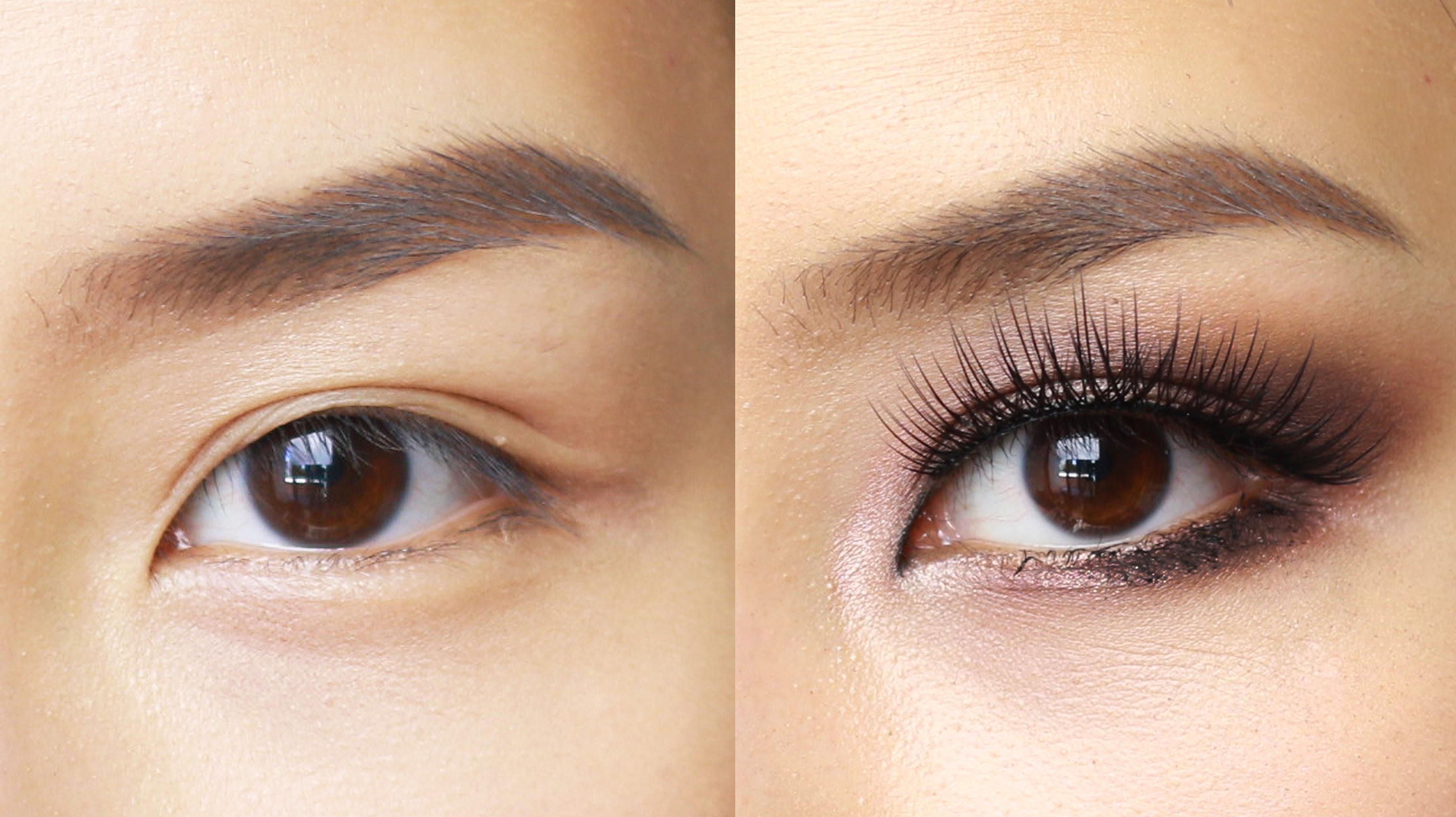 Fashion week Cat eye asian makeup for lady