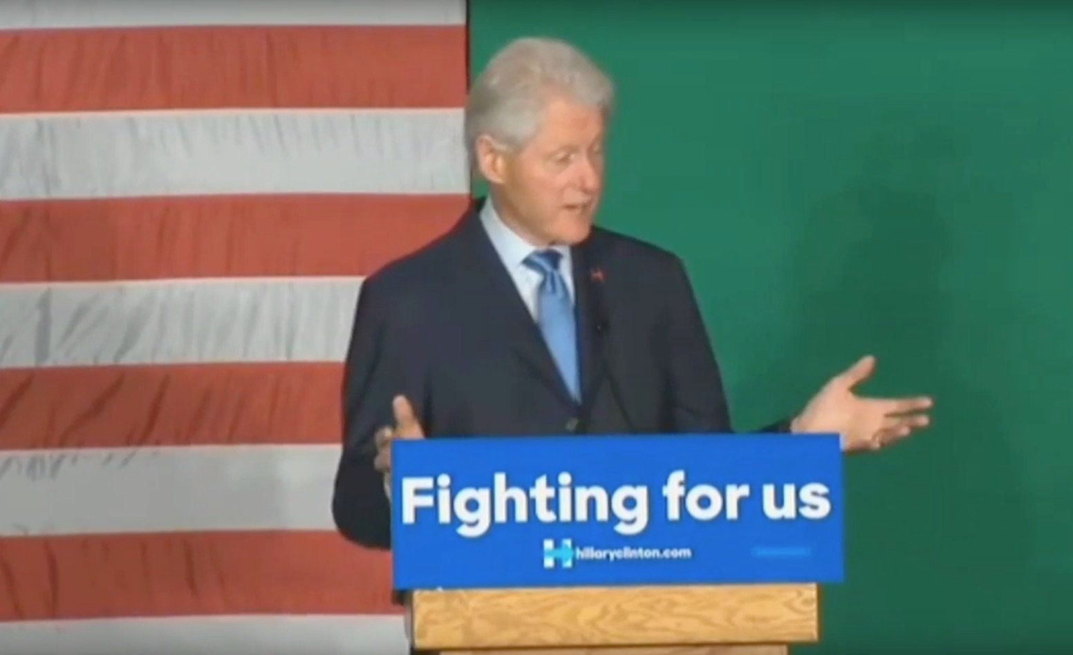 """Bill Clinton speaks in Spokane about the """"awful legacy of the last eight years."""""""