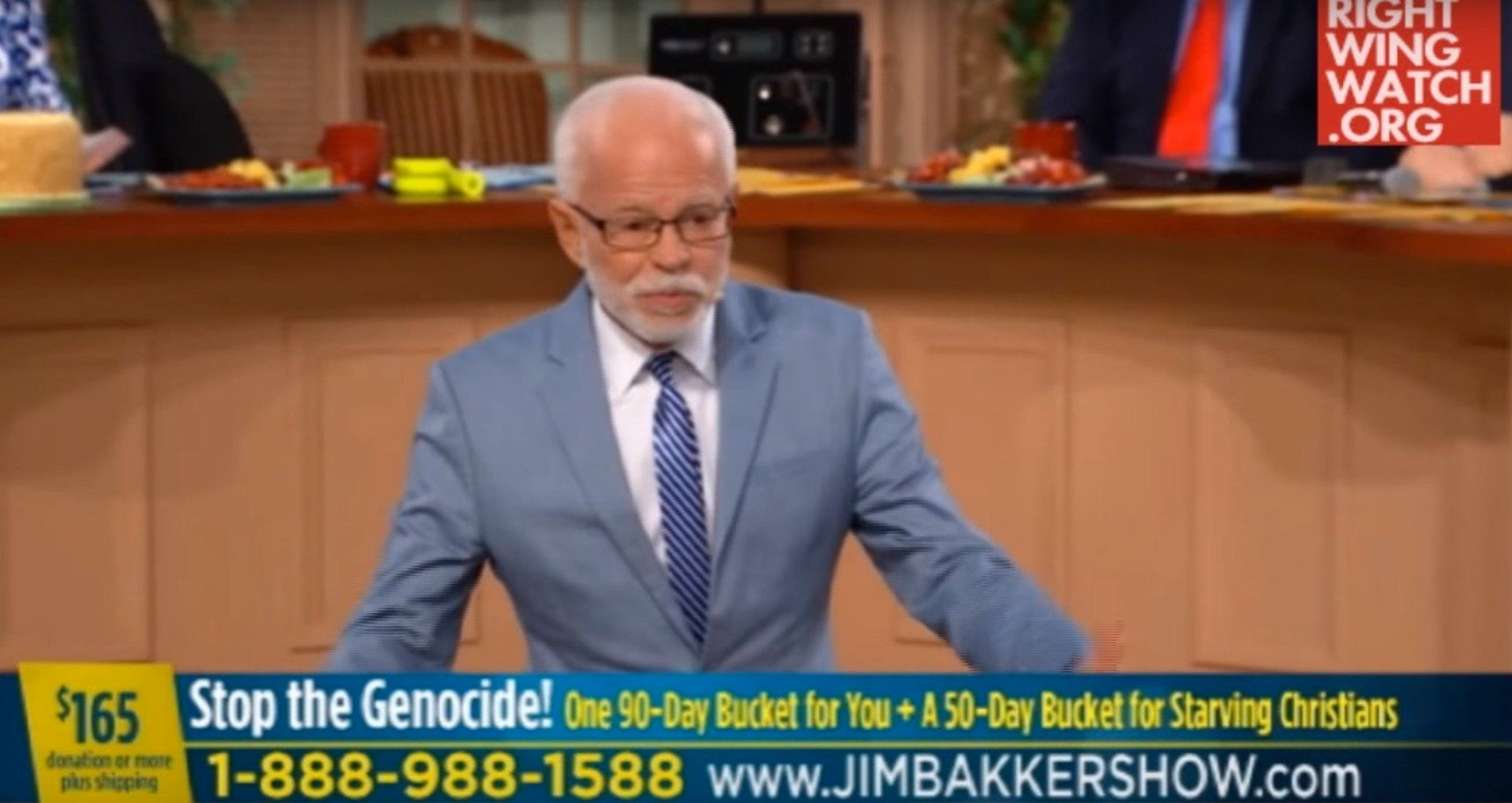 Jim Bakker compares Bernie Sanders to Adolf Hitler.