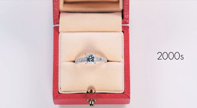 See 100 Years Of Engagement Ring Trends In Less Than Three