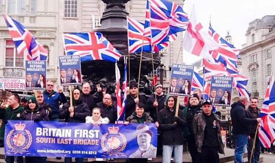 Britain First has claimed victory over a pro-refugee march in London despite 'overwhelming