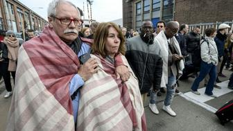 People are evacuated from Brussels airport in Zaventem on March 22, 2016 following twin blasts. A string of explosions rocked Brussels airport and a city metro station, killing at least 21 people in apparently coordinated attacks, officials said.  == BELGIUM OUT == / AFP / Belga / DIRK WAEM / Belgium OUT        (Photo credit should read DIRK WAEM/AFP/Getty Images)