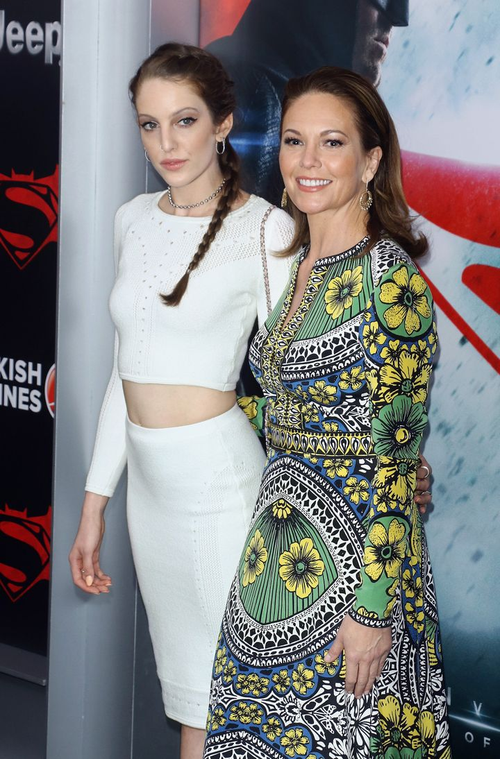 Eleanor Lambert and Diane Lane attend the launch of Bai Superteas at the 'Batman v Superman: Dawn of Justice' premiere on Mar