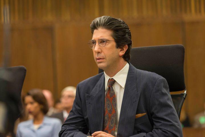"David Schwimmer as defense attorney Robert Kardashian in FX's ""American Crime Story: The People v. O.J. Simpson."""