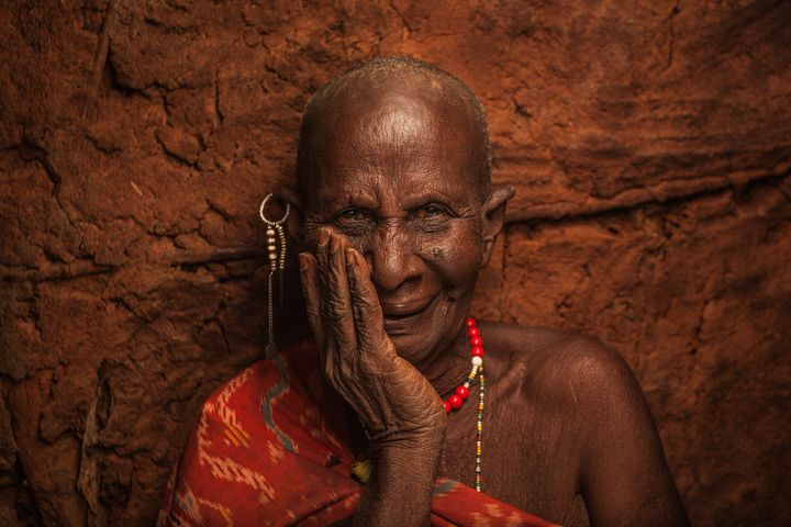 A 99 year-old grandmother at a small village near Voi Town.