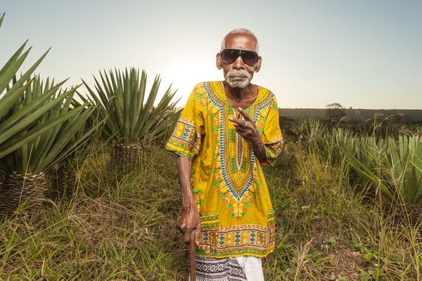Grandpa with swag - Vipingo Sisal Plantation.