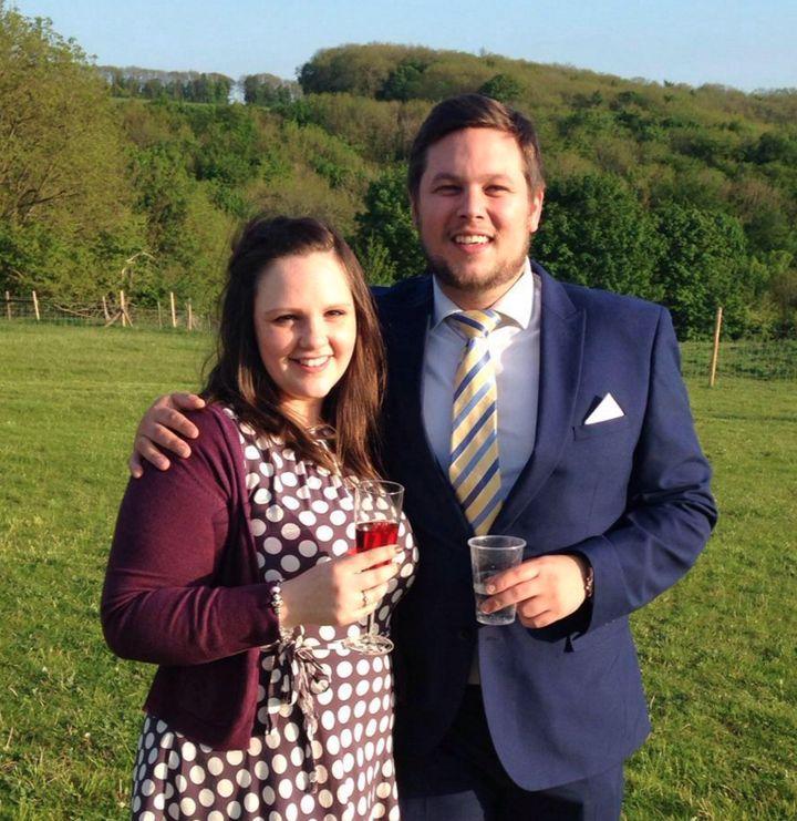 Libby Martin and her fiancé Rob Gazzard
