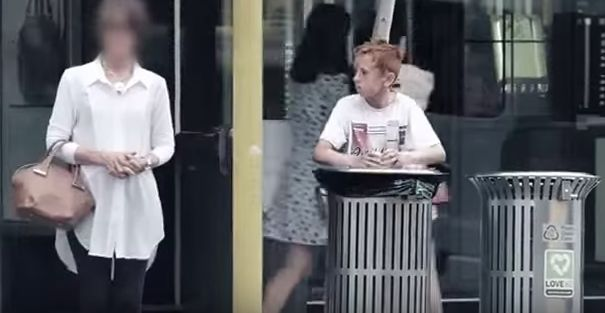 The boy was filmed searching for food from rubbish bins in Auckland, New
