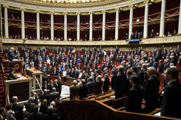 French deputies hold a minute of silence for the Brussels victims at the start of a questions session inFrance's govern
