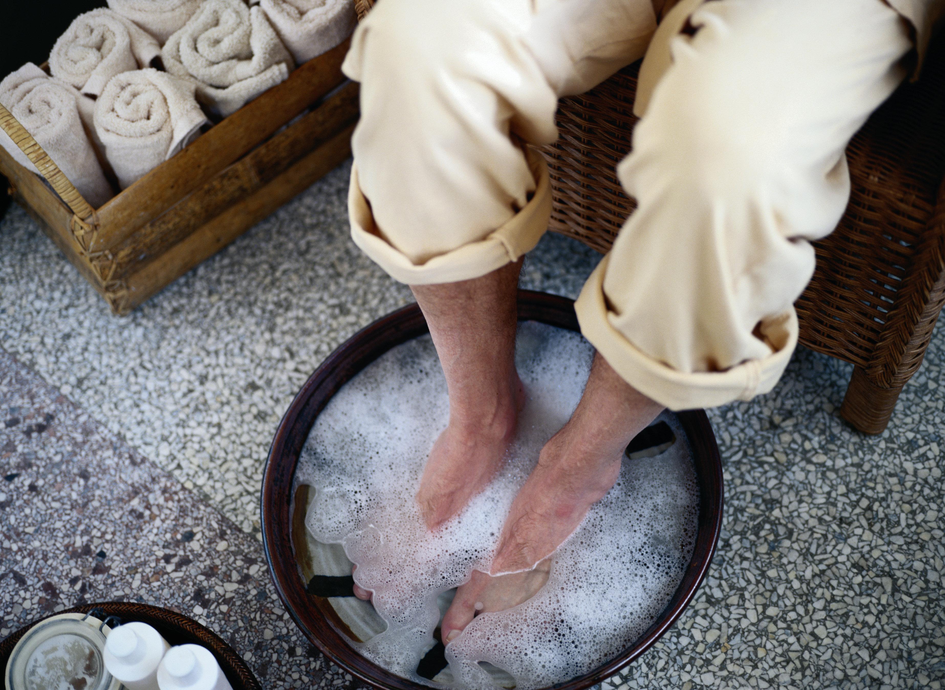 Man Soaking His Feet