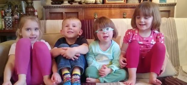 Laurie Heyes, her brother Austin and her two cousins Gwenan and
