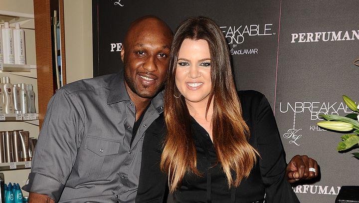 Lamar Odom and Khloe Kardashianin June 2012.