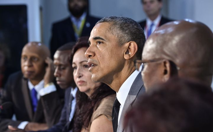 President Obama took part in a Civil Society Roundtable discussion in Havana on Tuesday.