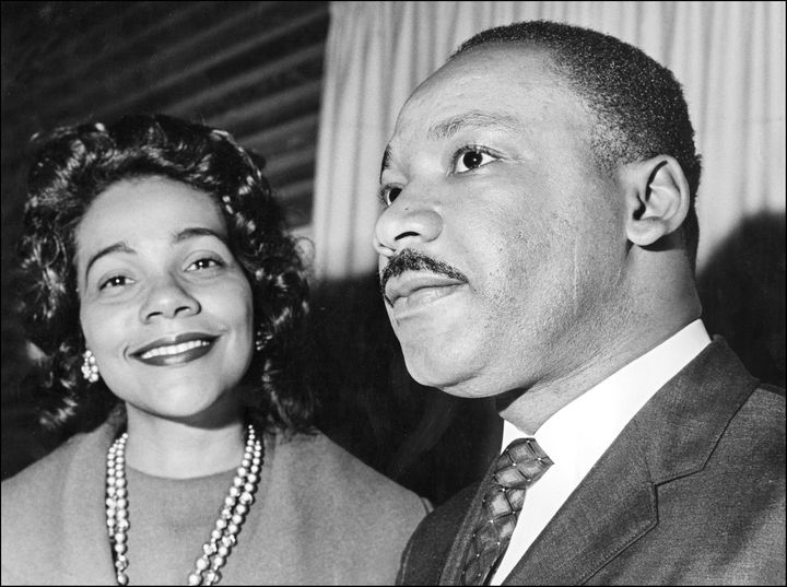 Coretta Scott King supports her husband, Martin Luther King Jr., in Oslo where he received the Nobel Peace Prize in 1964.