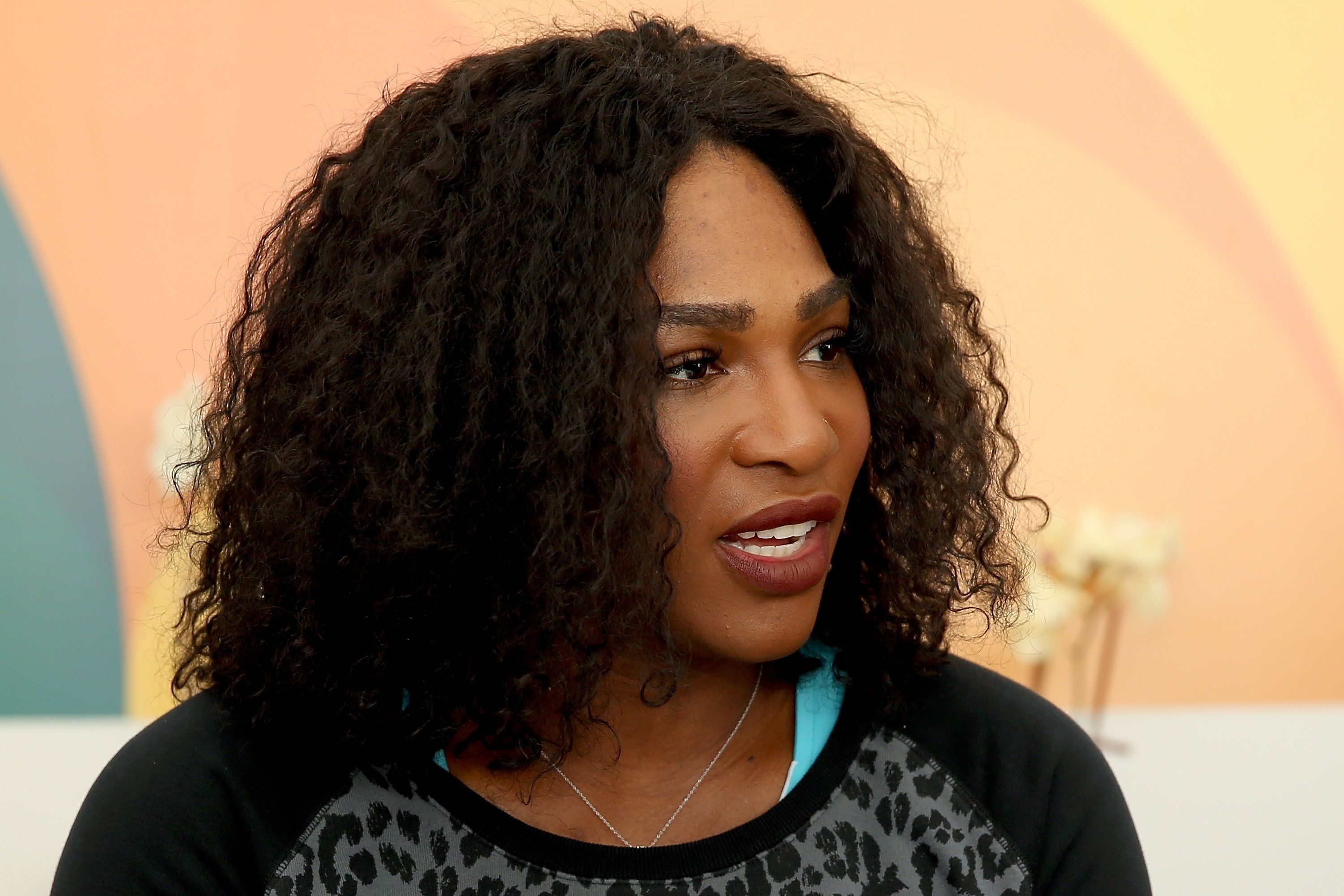 KEY BISCAYNE, FL - MARCH 22:  Serena Williams fields questions from the media during the Miami Open presented by Itau at Crandon Park Tennis Center on March 22, 2016 in Key Biscayne, Florida.  (Photo by Matthew Stockman/Getty Images)
