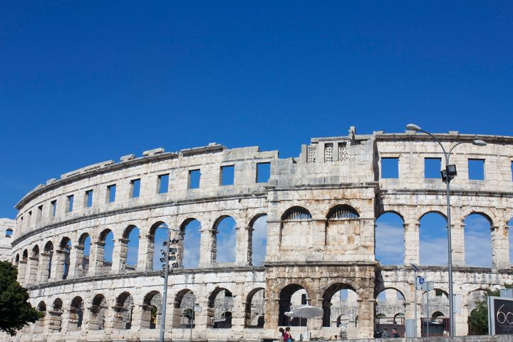 Pula's arena is one of the intact Romanamphitheatre's.