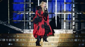 LONDON, ENGLAND - DECEMBER 01:  Madonna performs at the O2 as part of her 'Rebel Heart' world tour at The O2 Arena on December 1, 2015 in London, England.  (Photo by Dave J Hogan/Dave J Hogan/Getty Images)