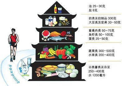 "<a href=""http://dg.en.cnsoc.org/"" target=""_blank"">The Chinese Dietary Guidelines</a> are illustrated with a pagoda. A person"